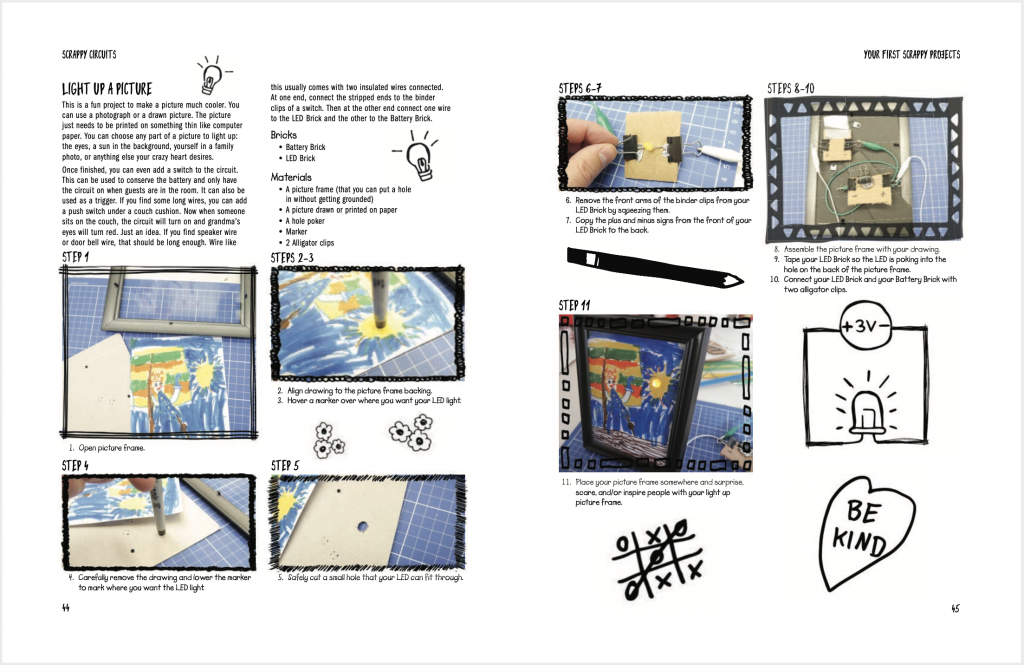 scrappy circuits book page preview